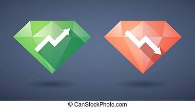 graph Diamond icon set