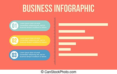 Graph element business concept Infographic