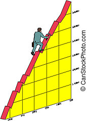 graph, eller, kort, branche hold