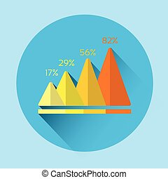 Graph Financial Growth Colorful Icon