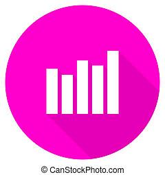 graph flat pink icon