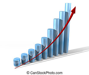 Graph for the future - Illustration of a bar chart showing...