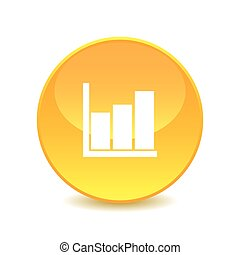 graph , graph icon on white background , Vector.