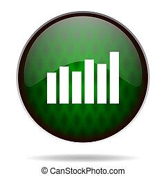 graph green internet icon
