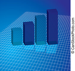 graph grid blue