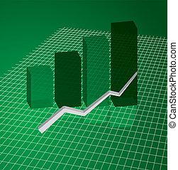 graph grid green