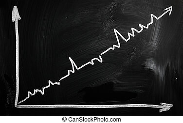 """graph"" handwritten with white chalk on a blackboard"
