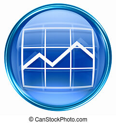 graph icon blue