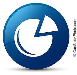 Graph icon blue round button