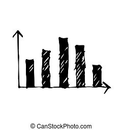 graph icon drawing illustration design