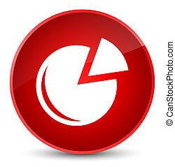 Graph icon elegant red round button