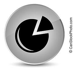 Graph icon elegant white round button