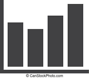 Graph icon in black on a white background. Vector illustration