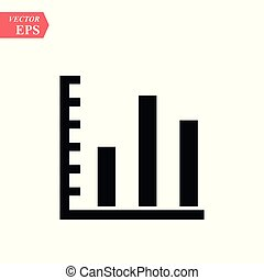 Graph Icon in trendy flat style isolated on grey background. Chart symbol for your web site design, logo, app, UI. Vector illustration, EPS 10.