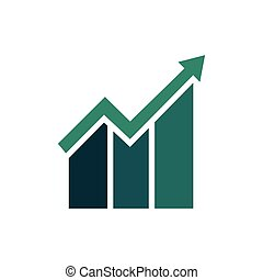 Graph Icon in trendy flat style isolated on white background. Chart bar symbol for web site design, logo, app, UI. Vector illustration.