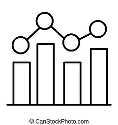 Graph Icon in trendy flat style isolated on white background. Chart bar symbol for your web site design, logo, app, UI. Vector illustration, EPS10.