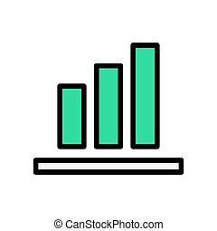 Graph icon in trendy flat style isolated on white background. Chart bar symbol. Vector illustration