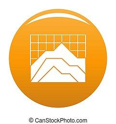 Graph icon orange