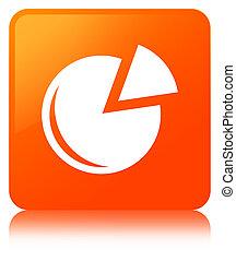 Graph icon orange square button