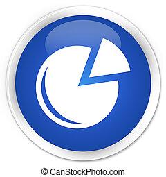 Graph icon premium blue round button