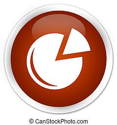 Graph icon premium brown round button