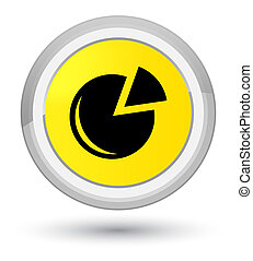 Graph icon prime yellow round button