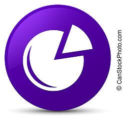 Graph icon purple round button