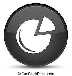 Graph icon special black round button