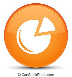 Graph icon special orange round button