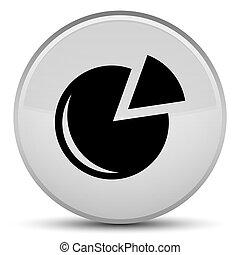 Graph icon special white round button
