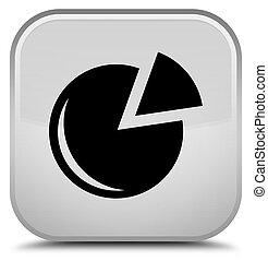 Graph icon special white square button
