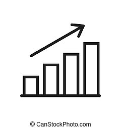 Graph icon vector. Simple graph sign in modern design style for web site and mobile app. EPS10