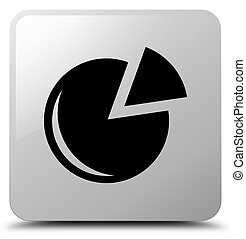 Graph icon white square button