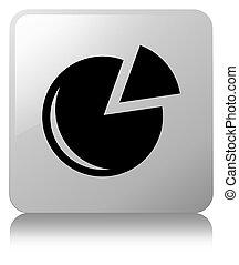 Graph icon white square button