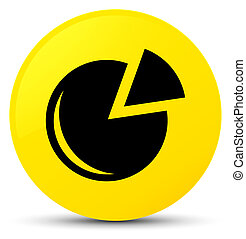 Graph icon yellow round button