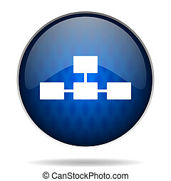 graph internet blue icon