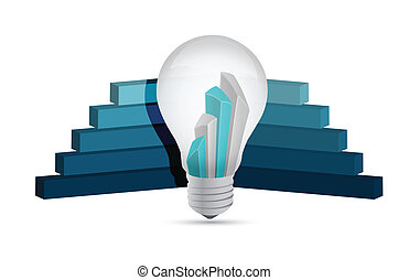 graph lightbulb, business illustration design