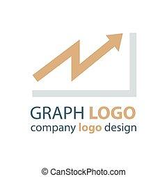 graph logo design brown