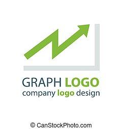 graph logo design green