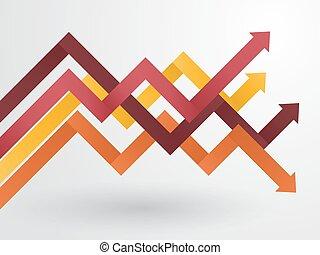 graph of arranged pastel arrows