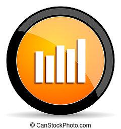 graph orange icon