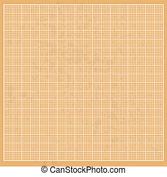 Graph orange paper grunge with white cells