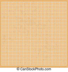 Graph  orange paper grunge with white cells