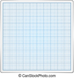 Graph Paper - Square gragraph paper on white background,...