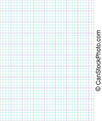 Lined (segmented) graph paper showing complete page with page shadow