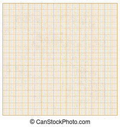 Graph paper white grunge with orange cells