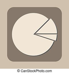 graph pie with two parts vector icon
