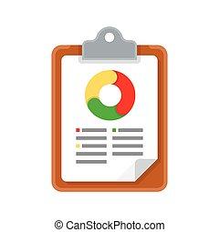 Graph Report Vector Icon