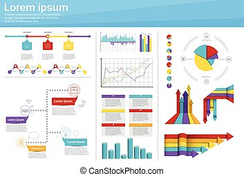 Graph Set Finance Diagram Infographic Icon Financial...