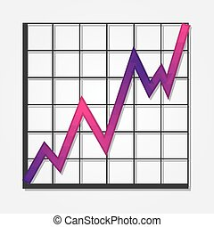 Graph shape with colorful triangles